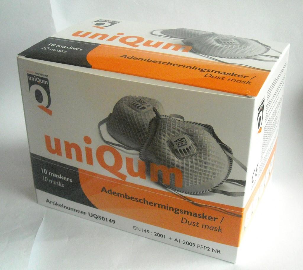 product verpakking mond maskers doosje in full color adembeschermings masker dust mask ffp2