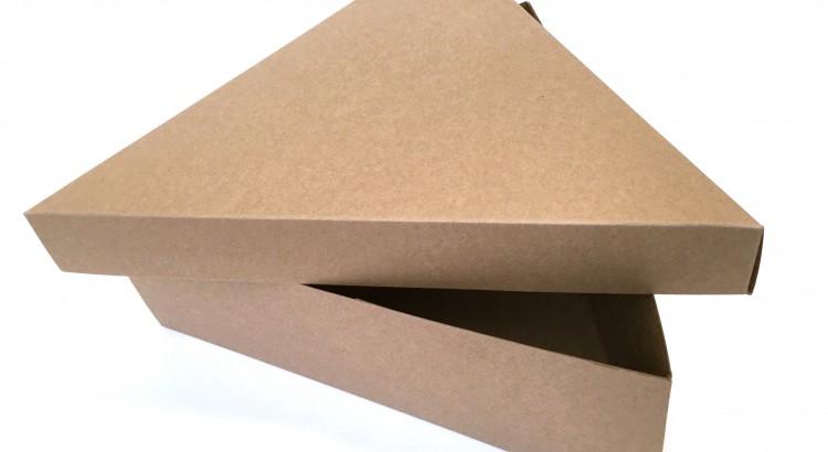 Driehoekdoos met los deksel doos kraft bedrukt