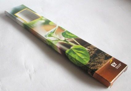 Doosje voor potloden met venster en 2 klepjes 39x8,5x194 mm