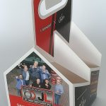 draagkarton 4-pack longneck bier flesjes bedrukt kerst houder met logo
