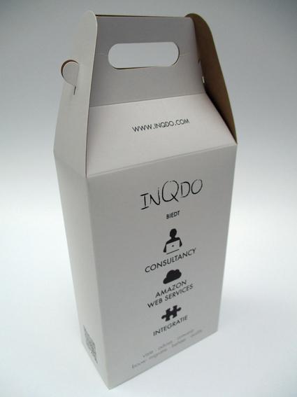 doos met handvat bedrukt 60x120x190 mm