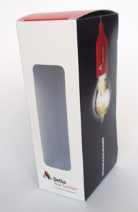 Lampdoos bedrukt doos met venster zweedse bodem 55x175x75/150 mm