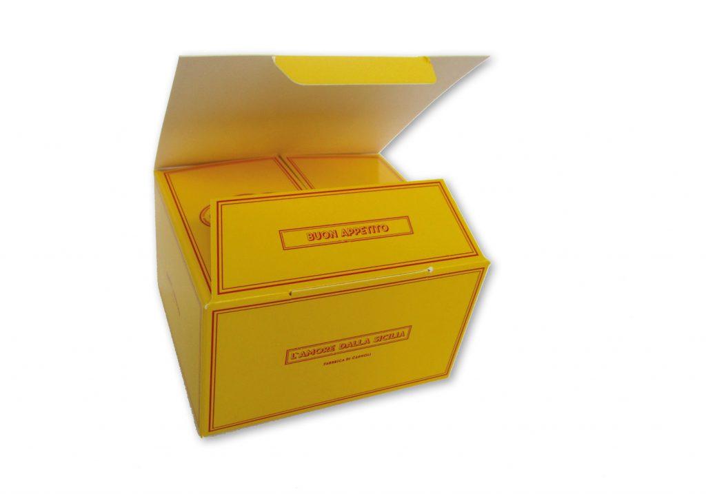 Bonbondoosje voor 6 bonbons met autolock bodem 105x90x60 mm