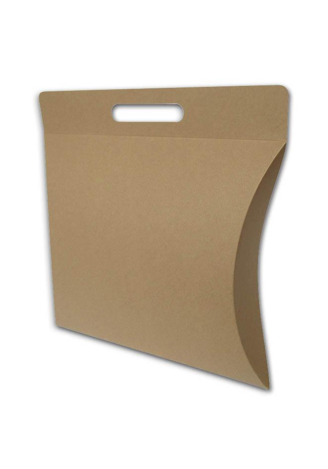 Gondeldoos kraft karton kan bedrukt met handvat (binnen maat) 300x260x80 mm