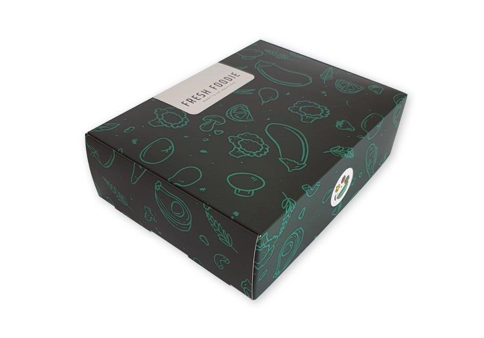doos voor diepvries product maaltijd bedrukt met vaste klep 265x195x80 mm